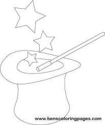 magic hat coloring pages