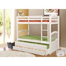 Loft Bed With Trundle Twin Over Full Bunk Bed White And Twin Over - White bunk bed with drawers