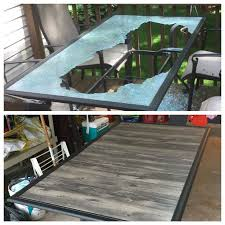 Glass Patio Table Top 25 Unique Glass Table Redo Ideas On Pinterest Industrial