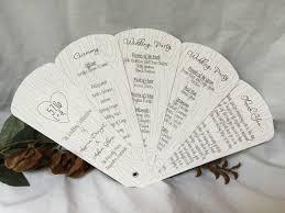 wedding fans with programs wedding fans programs tree carving petal fan wedding program