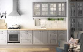 Ikea Kitchen Cabinet Grey Kitchen Cabinets Against Light Wood Floor This Gives Me