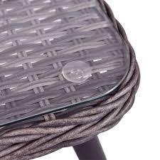 Good Rattan Specification 4 Pcs Grey Rattan Wicker Furniture Set Outdoor Furniture Sets