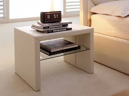 Bedside Table Ideas Sweet Neutral Side Table Design Plus Outstanding Glass Shelf Idea