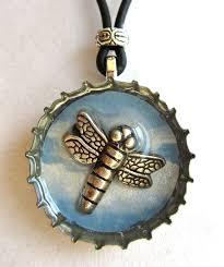 bottle cap necklaces blue dragonfly resin bottle cap jewelry 17 00 via etsy craft