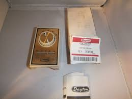 dayton attic fan switch dayton 2e158a line voltage thermostat for attic fan nos ebay