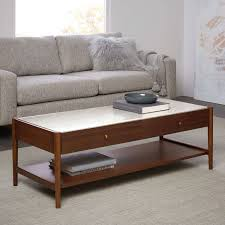 west elm marble top coffee table coffee table with storage regarding lift top tables houzz designs 12
