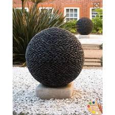 how to make concrete garden spheres river stones gardens and