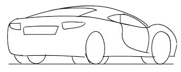 easy car drawing tutorial sports car 3 4 rear junior car