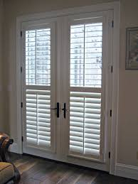Horizontal Blinds Patio Doors Wide Stainless Steel Frame Sliding Patio Door With Glass Panel And
