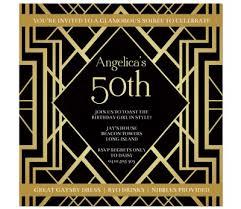 gatsby invitations birthday soirée invitations