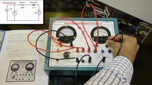 zener diode characteristics apparatus connections youtube