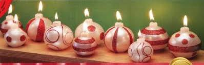 ornament candles set of 10