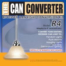Pendant Light Conversion Kit Model R4 4 Inch Can Light Converter The Can Converter