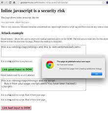 javascript tutorial demo disable inline javascript for security better world by better software