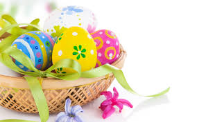 easter eggs flowers and easter eggs bowl wallpapers