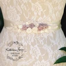dusty wedding dress laurie dusty soft mauve wedding dress sash bridal belt