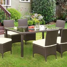 Glass Top Patio Tables Invite Outdoor Patio 90 Inch Dining Table Free Shipping Today