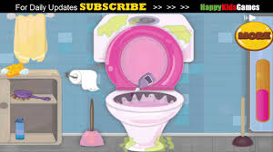 toilet cleaning game free kids games online youtube