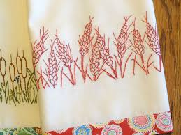 Kitchen Towel Embroidery Designs Redwork Embroidery Kitchen Towels