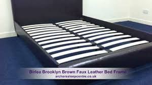 Faux Bed Frames Birlea Brown Faux Leather Bed Frame