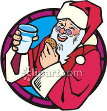 santa eating cookies clipart clipartxtras