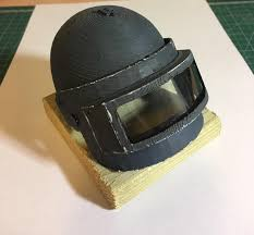 pubg level 3 helmet printed a level 3 helmet for my favorite pubg streamer 3dprinting