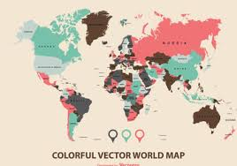 world map vector free wonders of the world map vector free vector 332979 cannypic