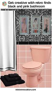 ideas to decorate a pink bathroom using classic kitsch designs