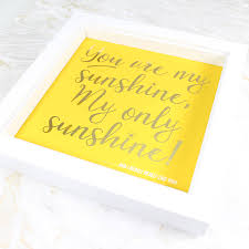 sunshine invitation you are my sunshine u0027 personalised gold foil print by wit u0026 wisdom