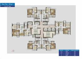West Wing Floor Plan The Wadhwa Atmosphere By The Wadhwa Group 2 2 5 3 Bhk Flats