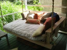 hanging porch bed swing plans home design ideas