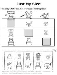 and the three bears math no prep kindergarten math worksheets