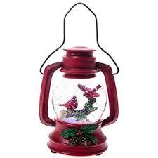 light up cardinal lantern water globe with http shop