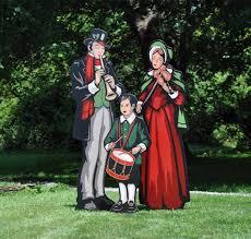 size carolers lawn display yard