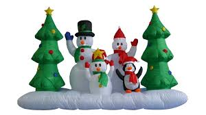 three posts 8 ft snowman family reviews wayfair