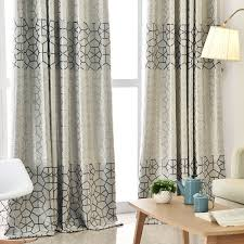modern thick suede geometric curtains for living room bedroom