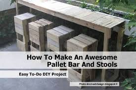 How To Make Bar Stools How To Make Pallet Bar Stools Home Design Ideas