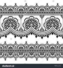 mehndi indian henna tattoo seamless pattern stock vector 277250858