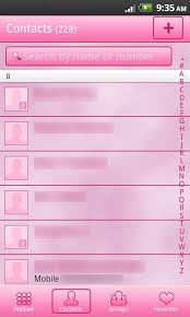 go contacts ex apk go contacts ex pro pink theme android apps on play