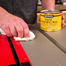 wax for wood table how to use paste wax to lubricate a table saw the family handyman