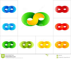 infinity number infinity sign logo design template stock vector image 45009798