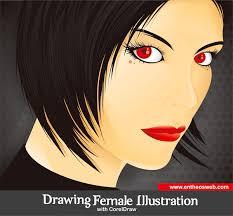tutorial vektor dengan corel drawing a female illustration with corel draw