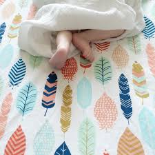 Crib Mattress Sheets Feather Crib Sheet Neutral Baby Bedding Fitted Crib Sheets