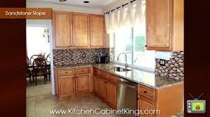 Sandstone Rope Kitchen Cabinets By Kitchen Cabinet Kings YouTube - Kitchen cabinet kings