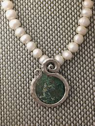 glass pearl necklace images Roman glass and pearl necklace by ithil metalworks jpg
