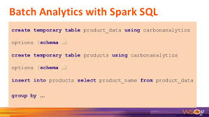 Create Temporary Table Wso2 Data Analytics Server Product Overview