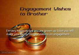 Wedding Wishes For Brother Engagement Wishes To Brother Engagement Sms