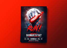 halloween party psd flyer template on behance