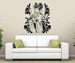 vinyl wall decal sticker japanese geisha design 1366