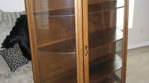 curved glass china cabinet curved glass china cabinet ebay stylish curio regarding 15